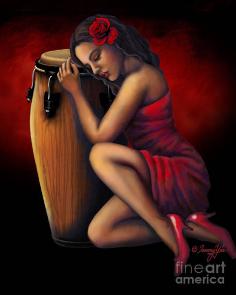 Latino Painting - Salsa Heartbeat by Tammy Yee