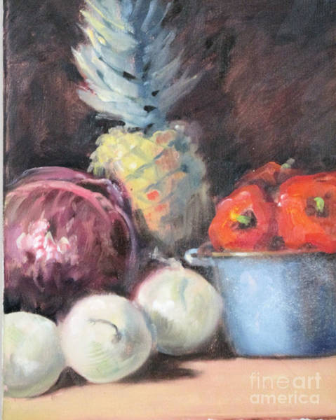 Cabbage White Painting - Salsa by Marge Casey