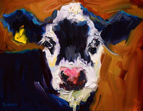 Wall Art - Painting - Salt And Pepper Cow 2 by Diane Whitehead