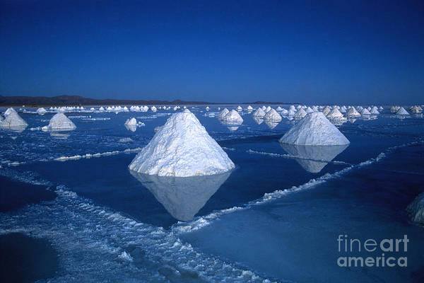 Photograph - Salt Cones At Nightfall by James Brunker