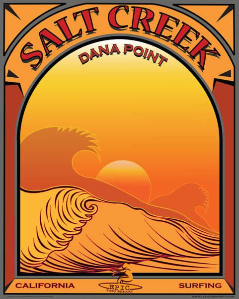 Wall Art - Digital Art - Salt Creek Surfing Dana Point California by Larry Butterworth