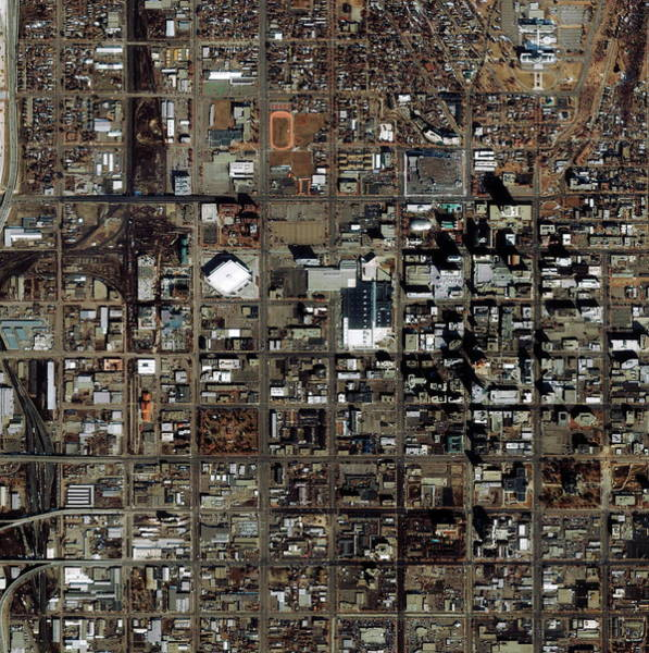 City Centre Photograph - Salt Lake City by Geoeye/science Photo Library
