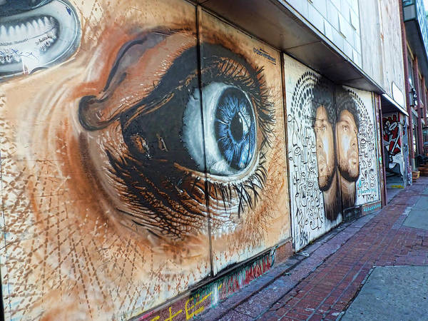 Eye Ball Photograph - Salt Lake City - Mural 1 by Ely Arsha