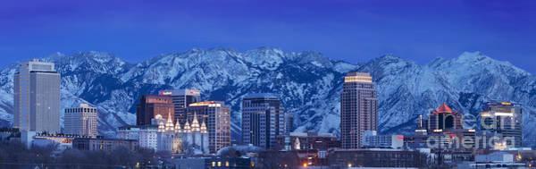 Photograph - Salt Lake City Skyline by Brian Jannsen