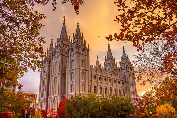 Photograph - Salt Lake City Temple by Emily Dickey