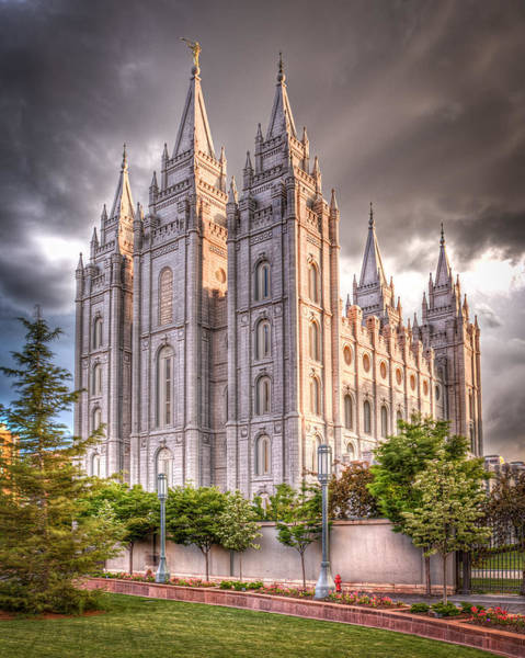 Square Tower Photograph - Salt Lake Temple by Niels Nielsen