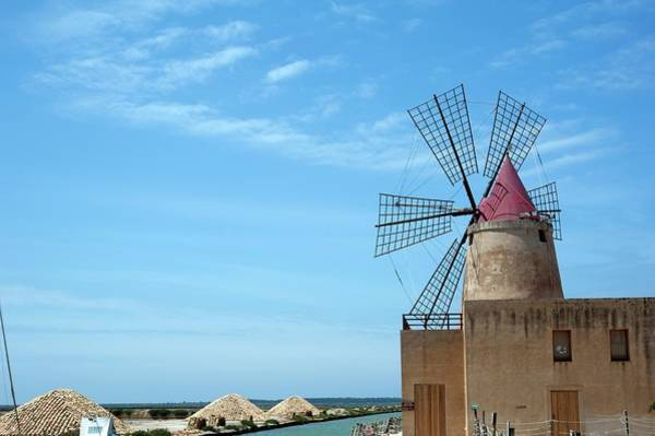 Salt Pond Photograph - Salt Pan Windmill by Jon Wilson