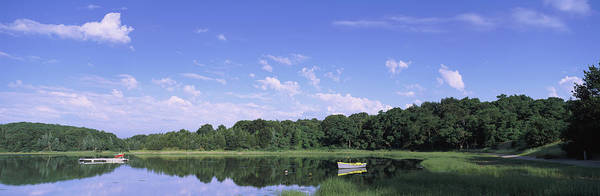 Nature Conservancy Photograph - Salt Pond In A Forest, Massachusetts by Panoramic Images