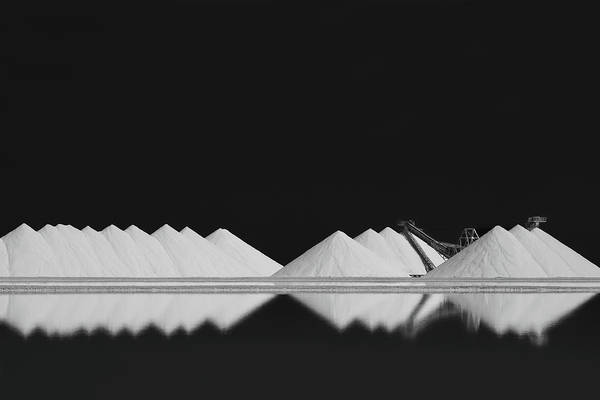 Low Key Wall Art - Photograph - Salt Production Bw by Rolf Endermann