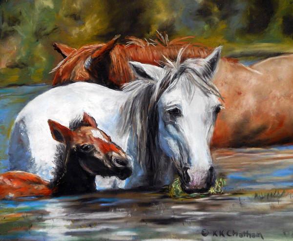 Wall Art - Pastel - Salt River Foal by Karen Kennedy Chatham