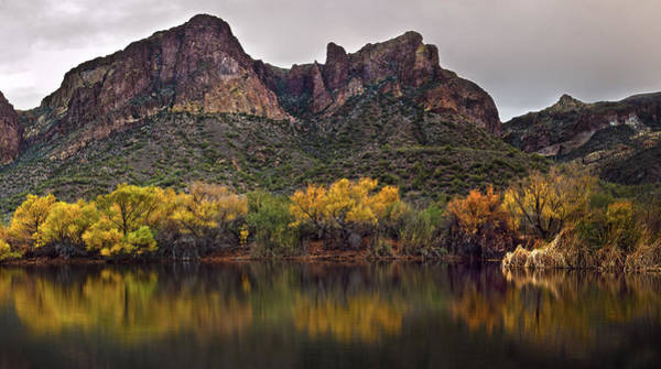 Photograph - Salt River Mountain Reflections by Dave Dilli
