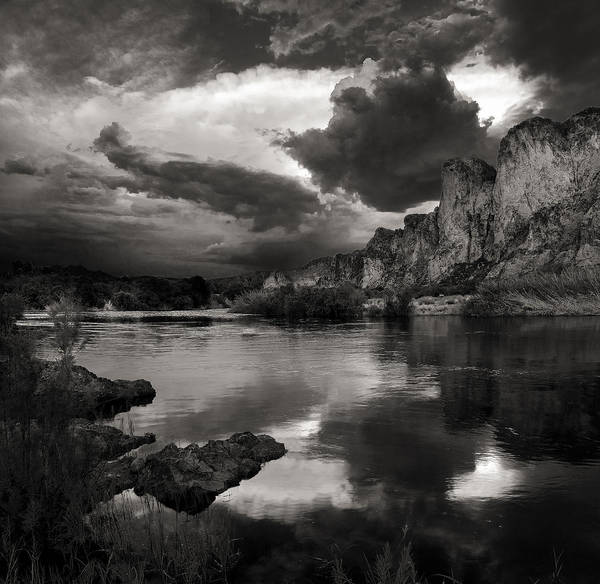 Wall Art - Photograph - Salt River Stormy Black And White by Dave Dilli