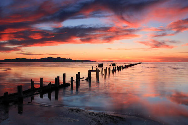 Photograph - Saltair Sunset by Johnny Adolphson