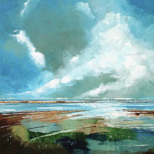 Skyscape Painting - Salthouse V by Stuart Roy