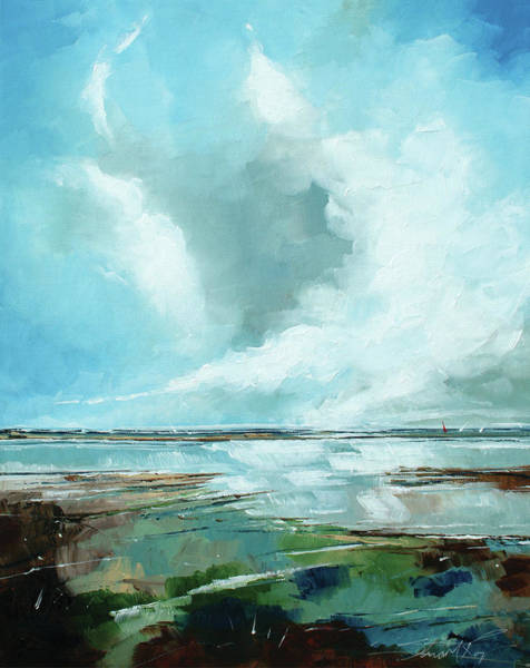 Skyscape Painting - Salthouse Vi by Stuart Roy