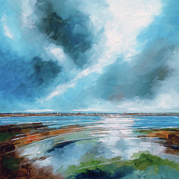 Skyscape Painting - Salthouse View 1 by Stuart Roy