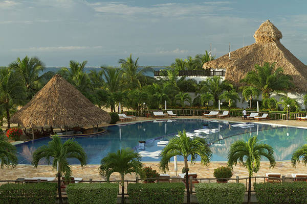 Belize Photograph - Saltwater Pool At Resort Hotel by William Sutton