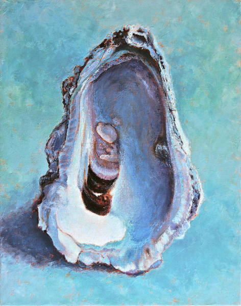 Oyster Bar Wall Art - Painting - Salty by Pam Talley