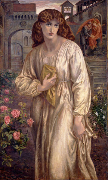 Gabriel Painting - Salutation Of Beatrice by Dante Gabriel Rossetti