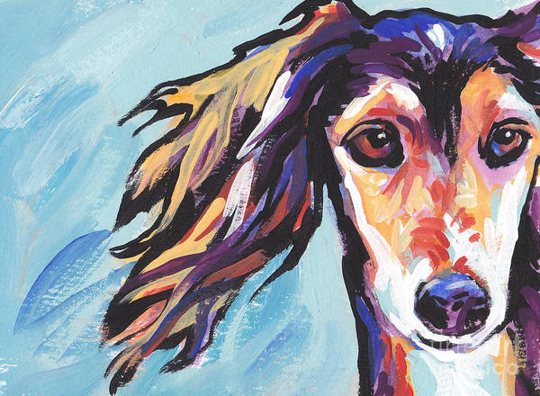 Sighthound Wall Art - Painting - Salute The Saluki by Lea S