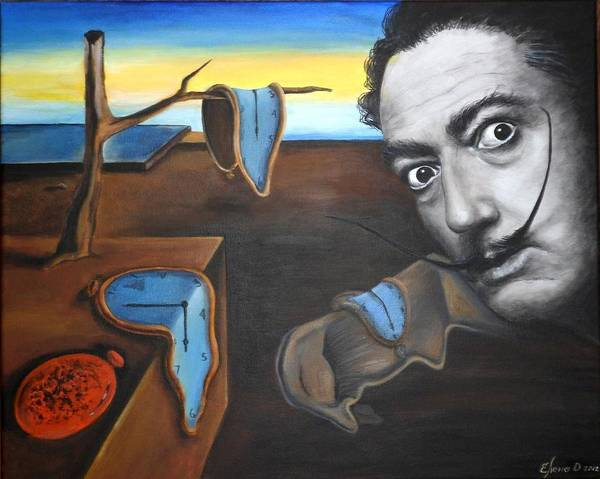 Clock Face Painting - Salvador Dali by Yelena Day