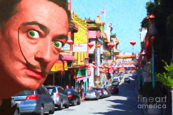 Photograph - Salvador Dali Orders Take Out At San Francisco Chinatown 2014121 by Wingsdomain Art and Photography