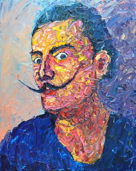 Wall Art - Painting - Salvador Dali Portrait by Ana Maria Edulescu