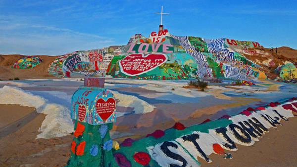 Salvation Wall Art - Photograph - Salvation Mountain by Barry Inouye