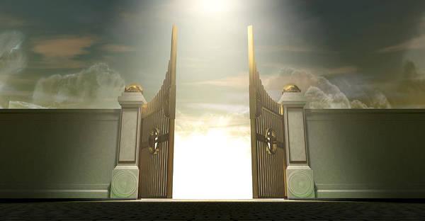 Majestic Digital Art - Salvations Open Gates by Allan Swart