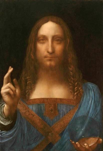 Old Masters Wall Art - Painting - Salvator Mundi by Leonardo da Vinci
