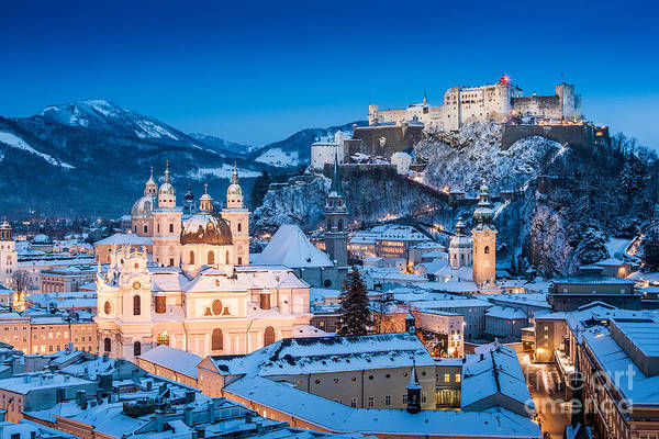 Mozart Photograph - Salzburg Winter Romance by JR Photography