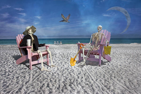 Skeleton Key Photograph - Sam And His Friend Visit Long Boat Key by Betsy Knapp