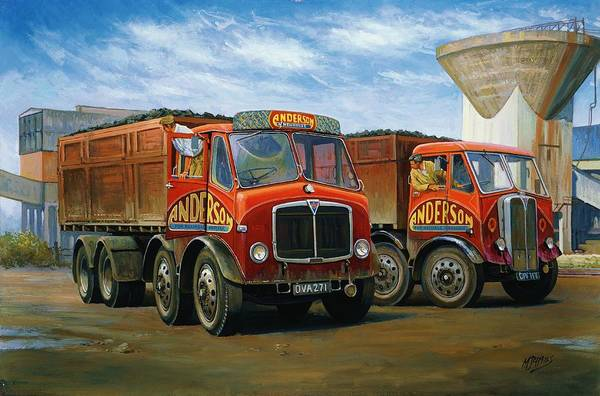 Wall Art - Painting - Sam Andersons Aec Tippers. by Mike Jeffries