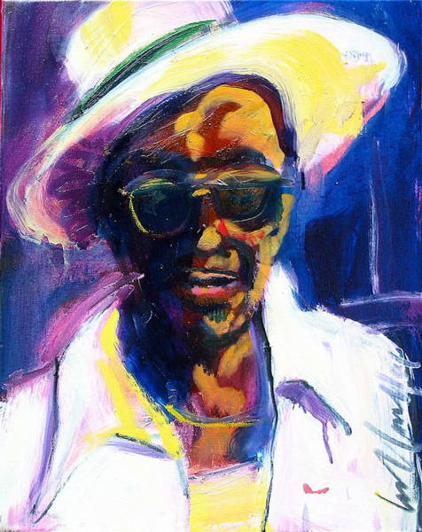 Painting - Sam Hopkins by Les Leffingwell