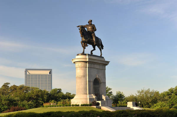 Sam Houston Statue In Hermann Park Art Print by Aimintang
