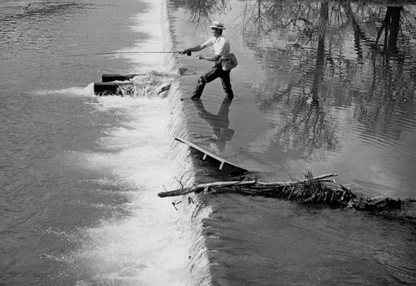 Water Sports Photograph - Sam Snead Trout Fishing by Constantin Joffe