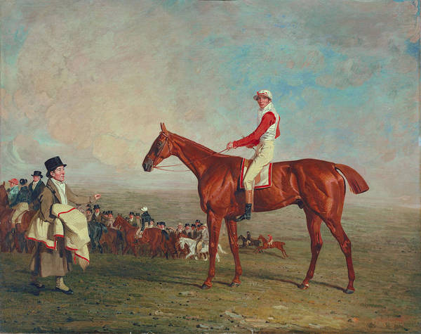 Chestnut Horse Painting - Sam With Sam Chifney, Jr., Up, 1818 by Benjamin Marshall