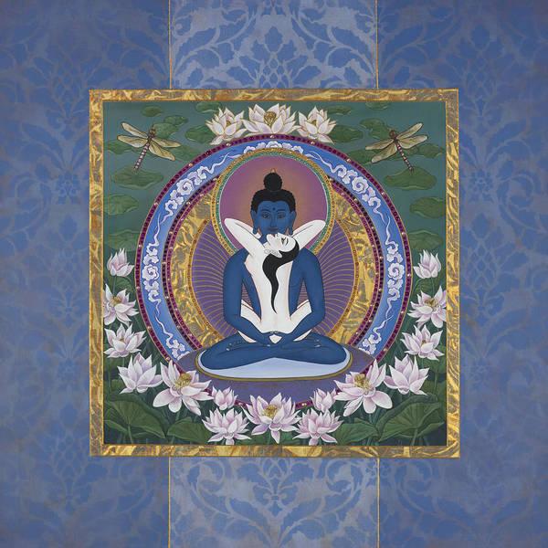 Tibetan Painting - Samantabadhra In The Beginning by Nadean OBrien
