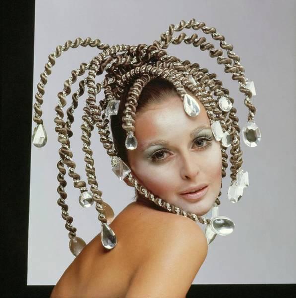 Wall Art - Photograph - Samantha Jones Wearing A Headdress by Gianni Penati