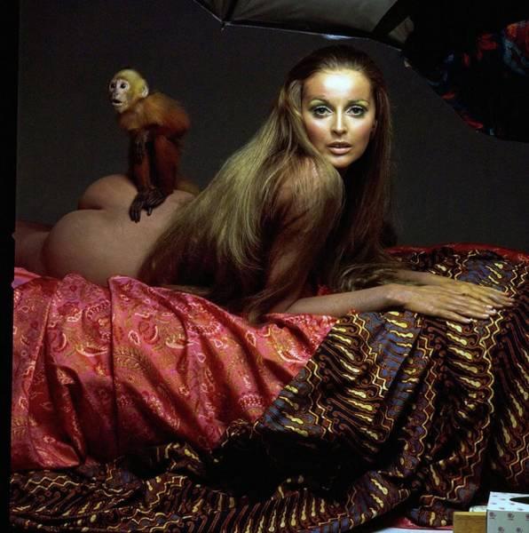 Wall Art - Photograph - Samantha Jones Wearing Germaine Monteil Make-up by Gianni Penati