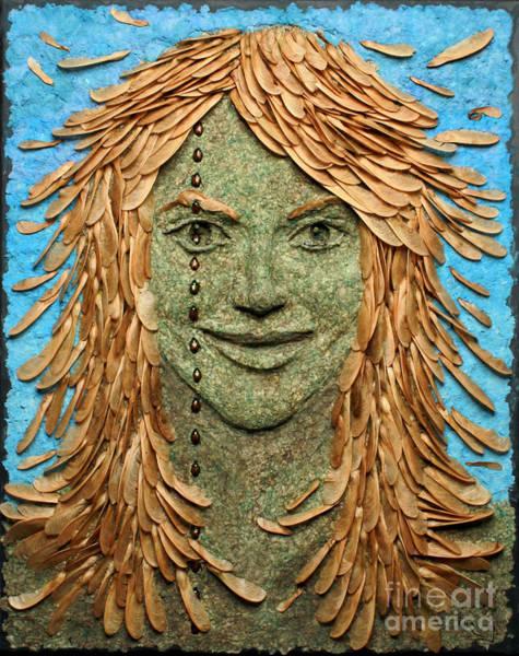 Mixed Media - Samara A Wall Hanging Relief Sculpture By Adam Long by Adam Long
