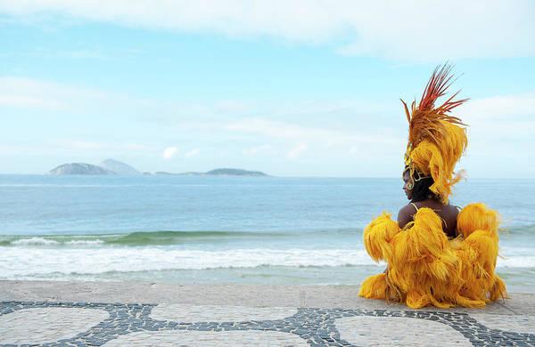 Rio De Janeiro Photograph - Samba Dancer In Ipanema Beach, Rio De by Emmanuel Aguirre