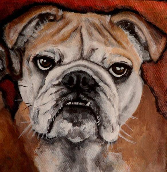 English Bulldog Painting - Sammy by Carol Russell