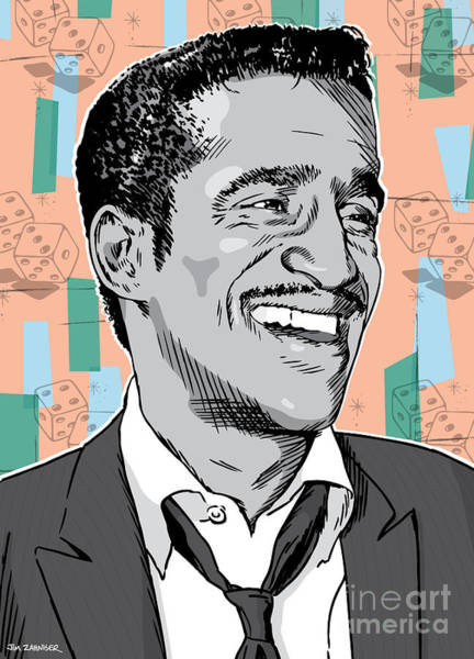 50s Wall Art - Digital Art - Sammy Davis Jr Pop Art by Jim Zahniser