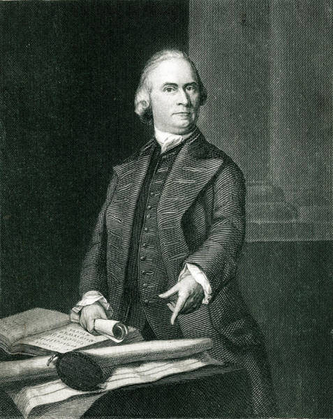 Wall Art - Drawing - Samuel Adams  American Revolutionary by Mary Evans Picture Library