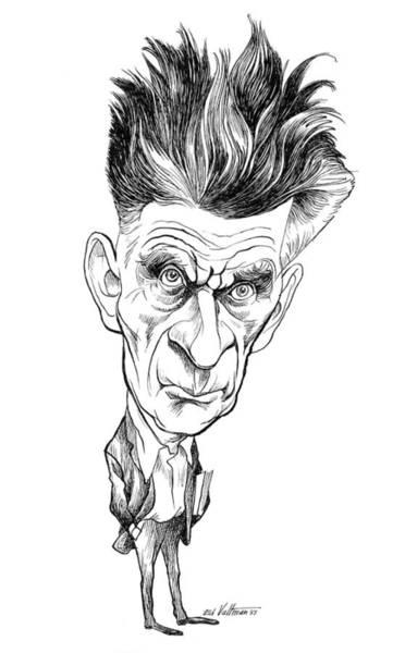 Drawing - Samuel Beckett Caricature by Edmund Valtman