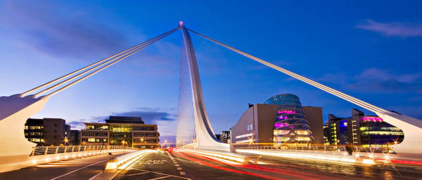 Photograph - Samuel Beckett Bridge And National Conference Centre / Dublin by Barry O Carroll