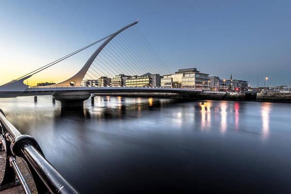 Konica Wall Art - Photograph - Samuel Beckett Bridge At Sunset Dublin Ireland by Giuseppe Milo