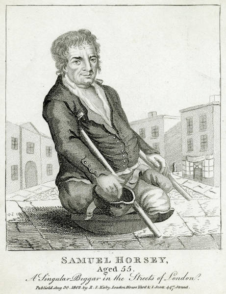 Wall Art - Drawing - Samuel Horsey, A Beggar, Requented by Mary Evans Picture Library