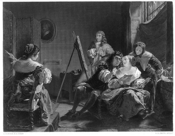 Wall Art - Drawing - Samuel Pepys Pays Little Attention by Mary Evans Picture Library